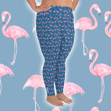Load image into Gallery viewer, Flamingo Plus Size Leggings - Scuba Sisters Diving Apparel