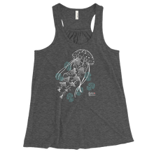 Load image into Gallery viewer, Ghost Jellies Tank - Flowy Racerback Tank - Scuba Sisters Diving Apparel