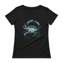 Load image into Gallery viewer, Shadow Crab Tee - Relaxed Scoopneck - Scuba Sisters Diving Apparel
