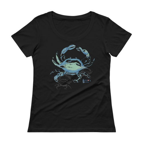 Shadow Crab Tee - Relaxed Scoopneck - Scuba Sisters Diving Apparel