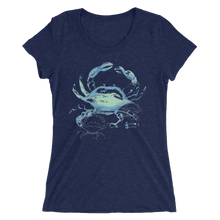 Load image into Gallery viewer, Ladies Crab Shirt by Scuba Sisters - Navy
