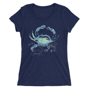 Ladies Crab Shirt by Scuba Sisters - Navy