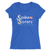 Load image into Gallery viewer, Ladies Scuba Sisters Logo T-Shirt - Royal