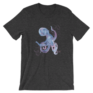 Unisex Octopus Shirt by Scuba Sisters - Dark Grey Heather