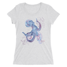 Load image into Gallery viewer, Shadow Octopus Tee - Fitted Scoopneck - Scuba Sisters Diving Apparel