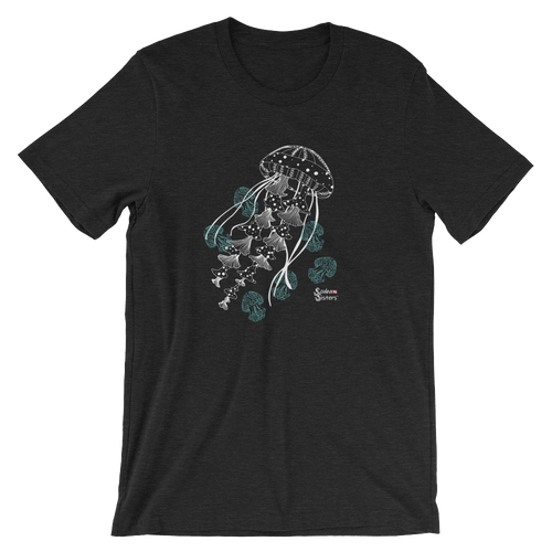 Unisex Jellyfish Shirt by Scuba Sisters - Black Heather