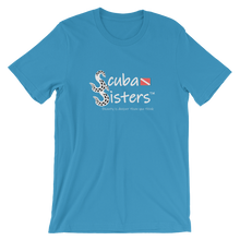 Load image into Gallery viewer, Unisex Scuba Sisters Logo T-Shirt - Ocean Blue