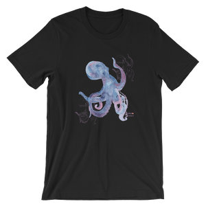 Unisex Octopus Shirt by Scuba Sisters - Black