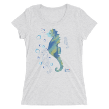 Load image into Gallery viewer, Ladies Seahorse T-Shirt by Scuba Sisters - White