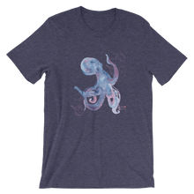 Load image into Gallery viewer, Unisex Octopus Shirt by Scuba Sisters - Heather Midnight Navy