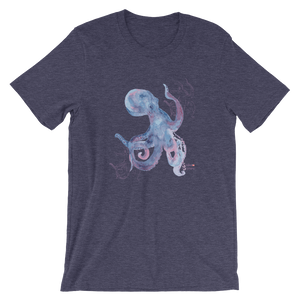 Unisex Octopus Shirt by Scuba Sisters - Heather Midnight Navy