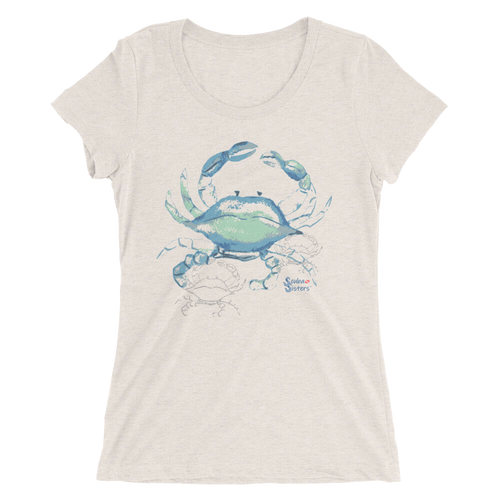 Ladies Crab Shirt by Scuba Sisters - Oatmeal