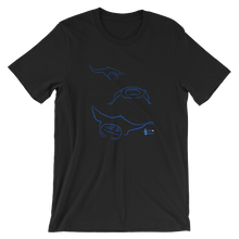 Load image into Gallery viewer, Unisex Manta T-Shirt by Scuba Sisters - Black