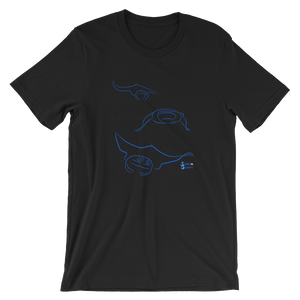 Unisex Manta T-Shirt by Scuba Sisters - Black