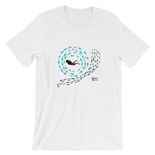 Load image into Gallery viewer, Swirly Fish Tee - Unisex - Scuba Sisters Diving Apparel