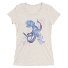 Load image into Gallery viewer, Ladies Octopus Shirt by Scuba Sisters - Oatmeal