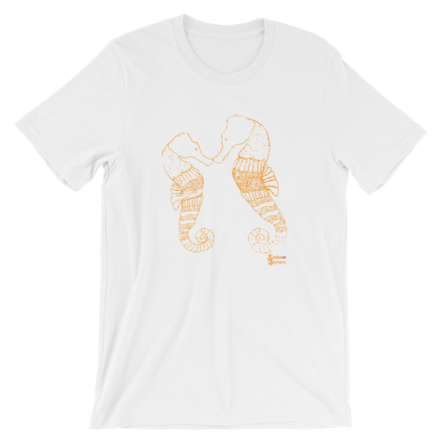 Unisex Seahorse T-Shirt by Scuba Sisters - White