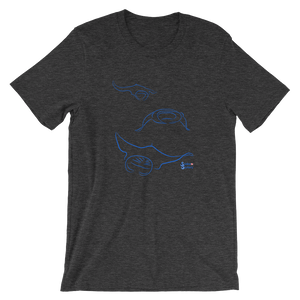 Unisex Manta T-Shirt by Scuba Sisters - Dark Grey Heather