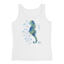 Load image into Gallery viewer, Ladies Seahorse Tank by Scuba Sisters - White
