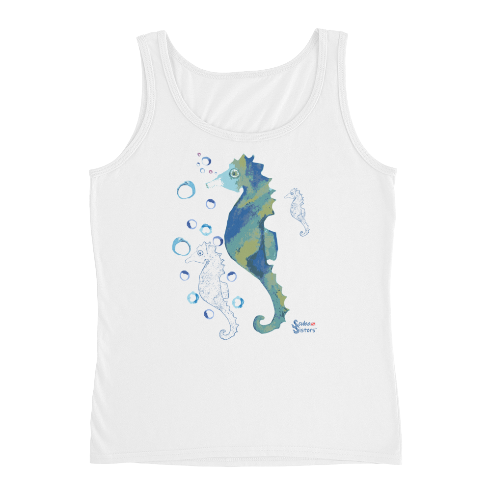 Bubbly Seahorse Tank - Relaxed - Scuba Sisters Diving Apparel