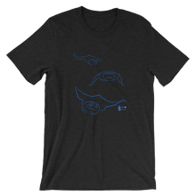 Load image into Gallery viewer, Unisex Manta T-Shirt by Scuba Sisters - Black Heather