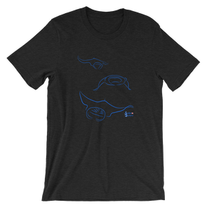 Unisex Manta T-Shirt by Scuba Sisters - Black Heather