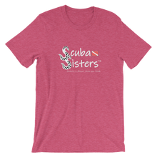 Load image into Gallery viewer, Unisex Scuba Sisters Logo T-Shirt - Heather Raspberry