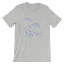 Load image into Gallery viewer, Unisex Manta T-Shirt by Scuba Sisters - Athletic Heather