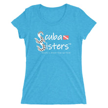 Load image into Gallery viewer, Ladies Scuba Sisters Logo T-Shirt - Aqua