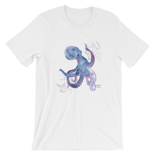 Unisex Octopus Shirt by Scuba Sisters - White
