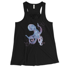 Load image into Gallery viewer, Ladies Octopus Tank Top for Scuba and Free Diving Women - Black