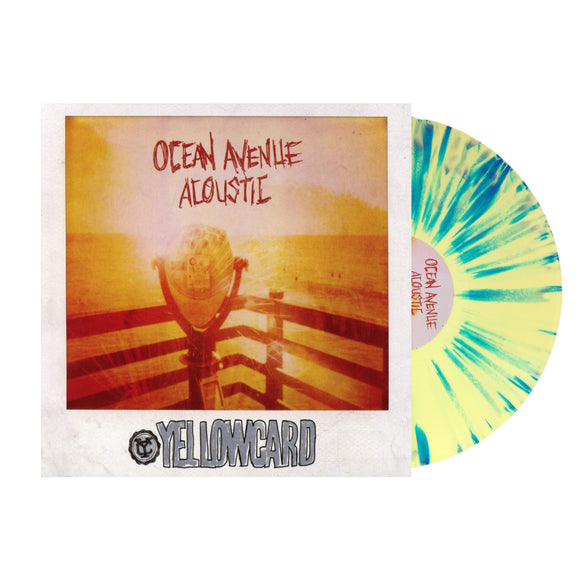 Ocean Avenue Acoustic Yellow W/ Blue Splatter