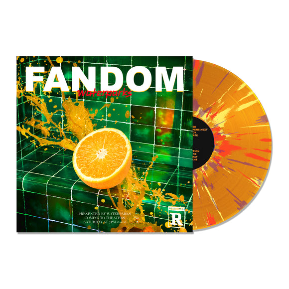 FANDOM Orange W/ Red, Yellow & Purple Splatter
