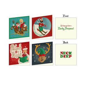 Neck Deep Holiday Greeting Cards