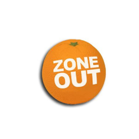 Zone Out Orange Stress Ball