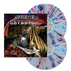 City Of Evil Clear With Purple And Blue Splatter