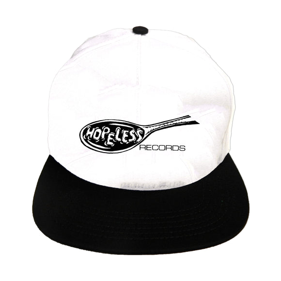 Old School White W/Black Rim Snapback