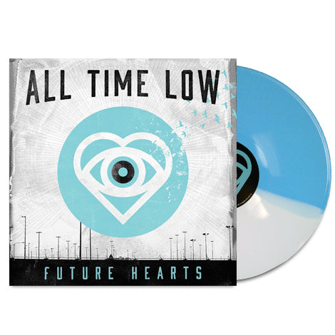 Future Hearts Half Light Blue/Half White LP