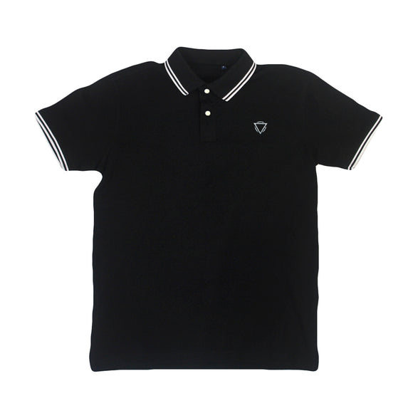 *Last One* Logo Embroidered Black Polo