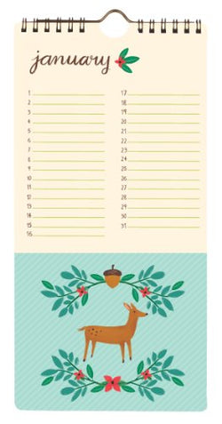 Forest Friends Perpetual Calendar