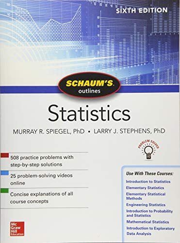 Schaum's Outline of Statistics, Sixth Edition (Schaum's Outlines)