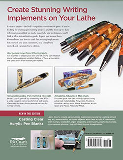 Pen Turner's Workbook, 3rd Edition Revised and Expanded: Making Pens from Simple to Stunning (Fox Chapel Publishing) 18 Pen Turning Projects, Beginner-Friendly Instructions, and Beautiful Photography