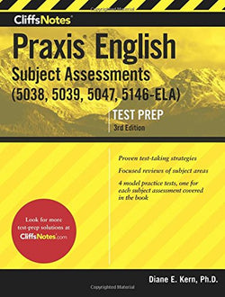 CliffsNotes Praxis English Subject Assessments, 3rd Edition
