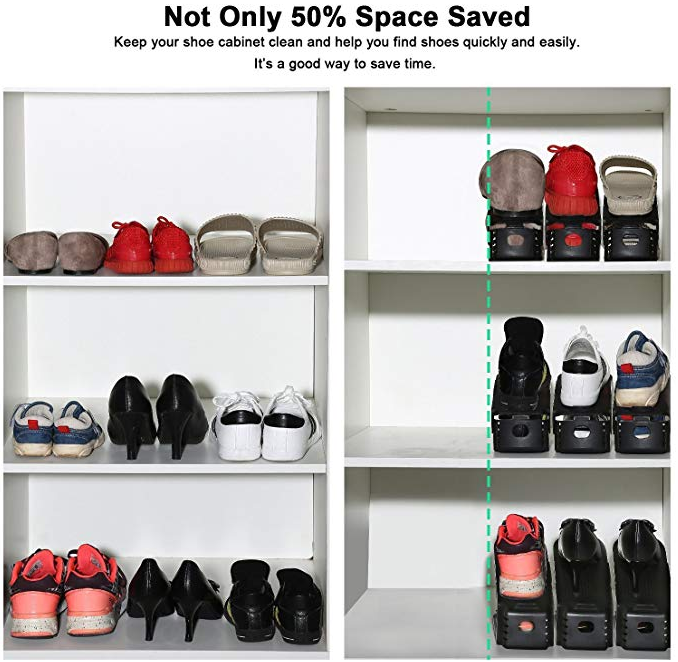 Double Deck Shoe Rack -Not Only 50% Space Saved!
