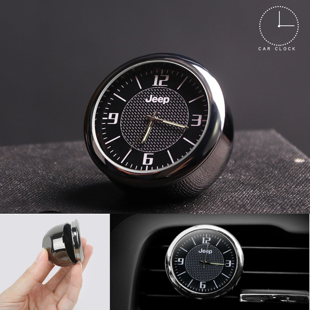 (Hot selling 500 items) 50% OFF Dashboard Car Clock ,Carbon Fiber Pattern Analog Quartz Clock with Vent Clip and Adhesive Tape