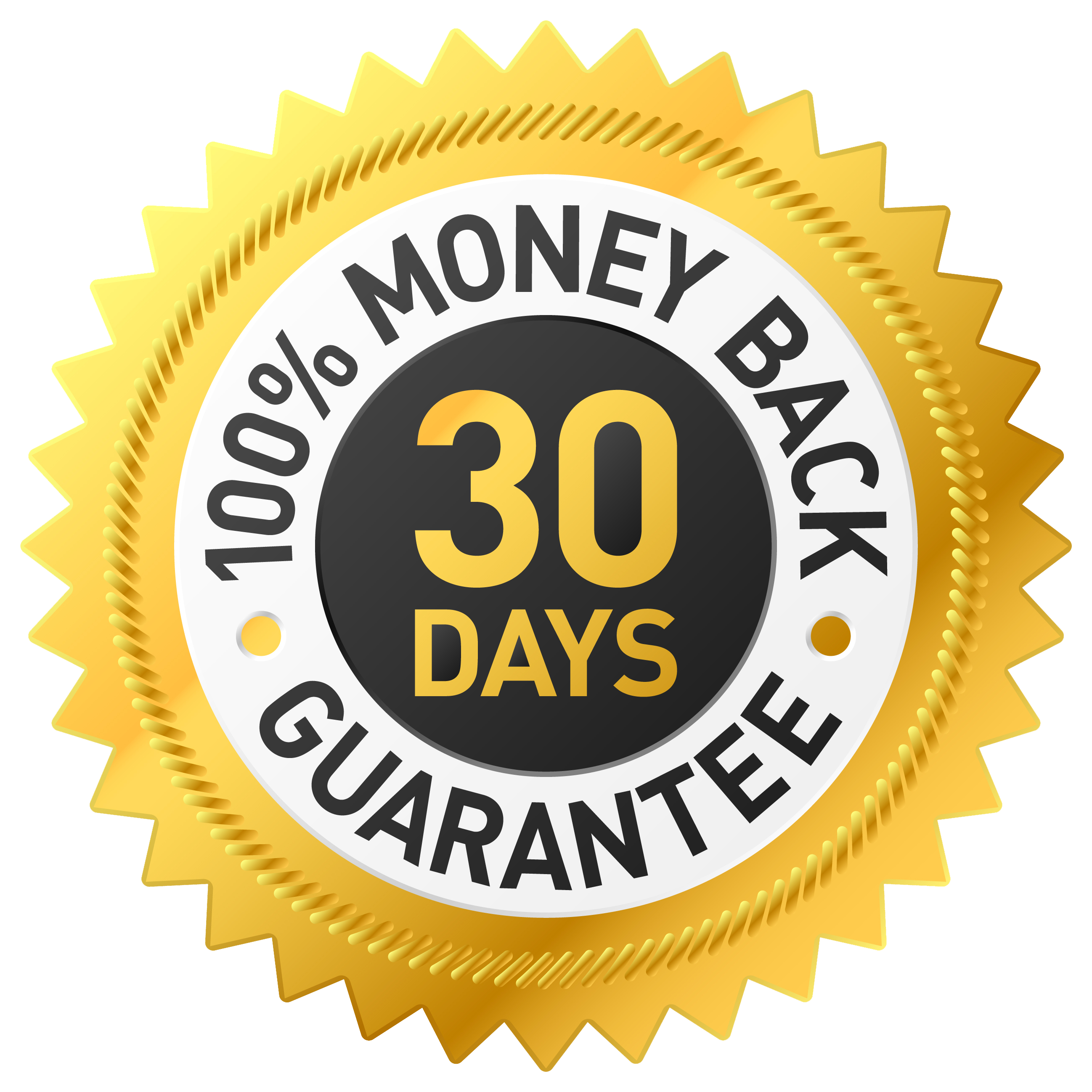 100% Money-Back 30-Day Guarantee