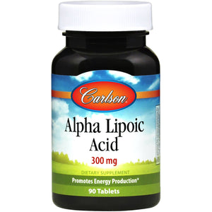Carlson Labs Lipoic Acid, Helps To Maintain Adequate Energy Production, 300 Mg 90 Tablets ME