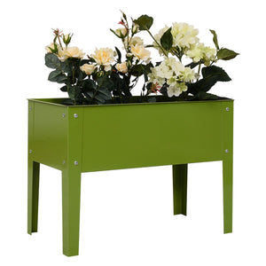 "24.5"" x12.5"" Outdoor Elevated Garden Plant Stand Flower Bed Box - NutritionalInstitute.com"