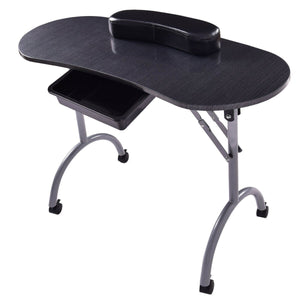 Folding Manicure Beauty Salon Nail Table Station