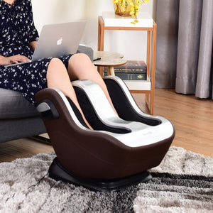 Shiatsu Deeping Kneading Rolling Vibration Heating Leg Massager Coffee